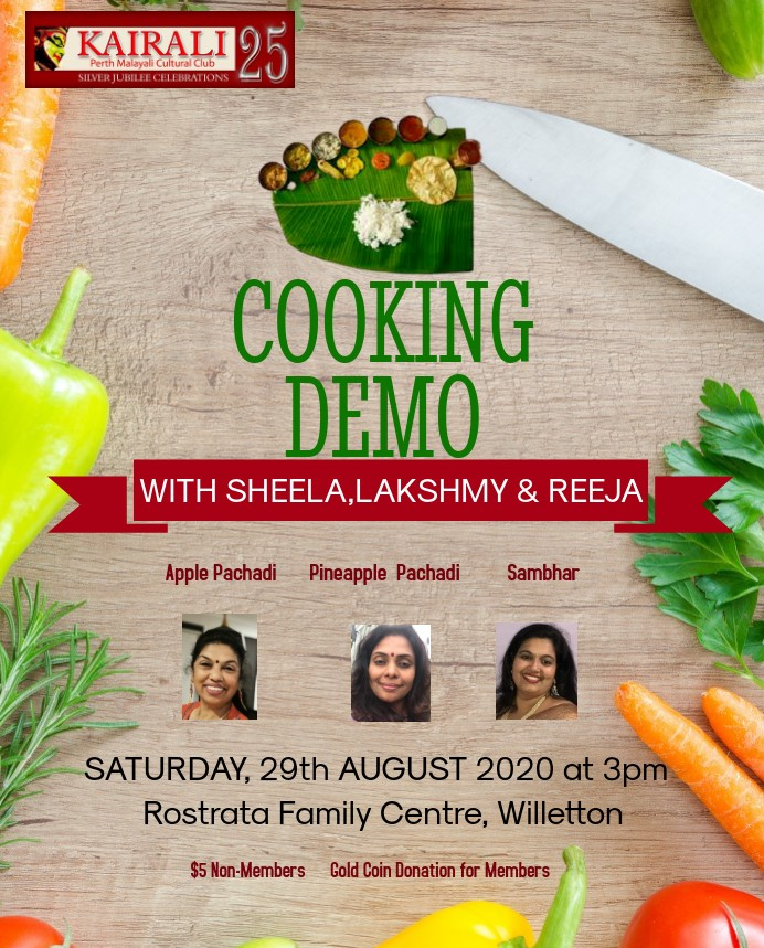 29th August - Onam special Cooking Demonstration