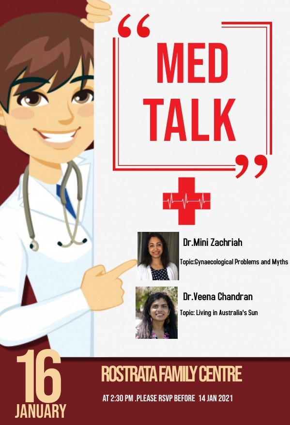 16 Jan 21- MedTalk by Dr.Mini Zachariah and Dr.Veena Chandran